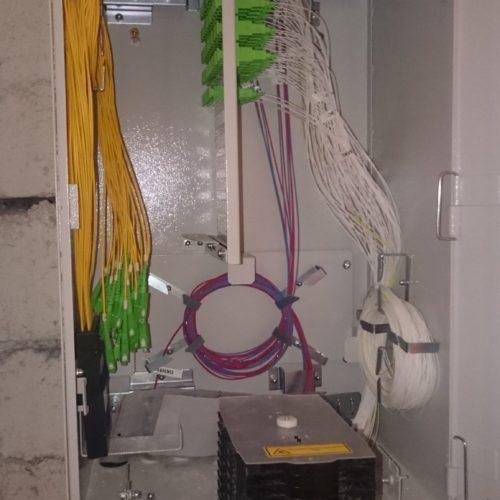 Główna przełącznica budynku w piwnicy